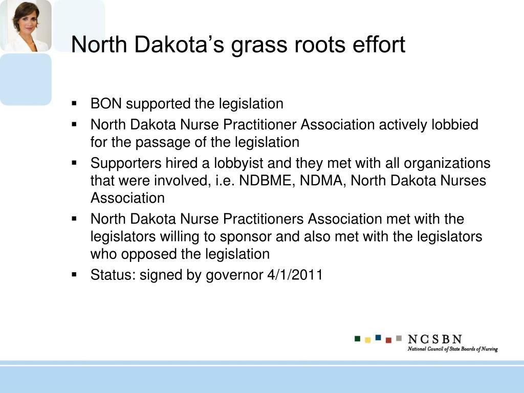 North Dakota's grass roots effort