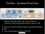 twitris system overview