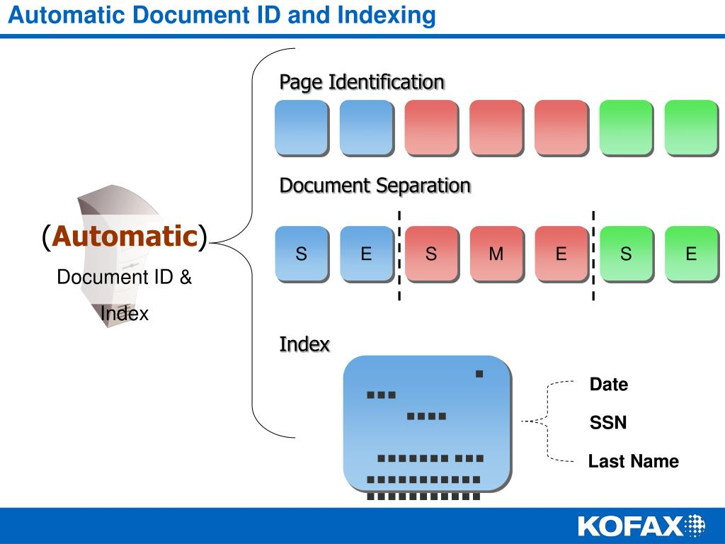 Automatic Document ID and Indexing