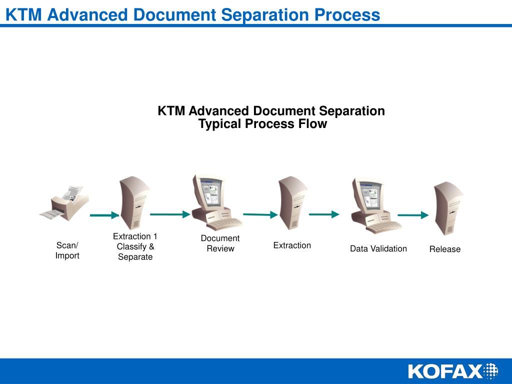 KTM Advanced Document Separation Process