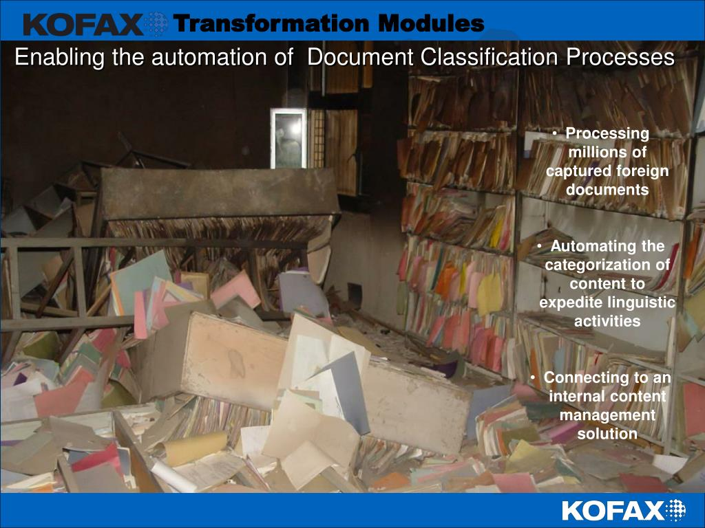 Enabling the automation of  Document Classification Processes