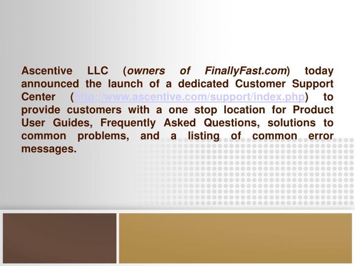 Ascentive LLC (