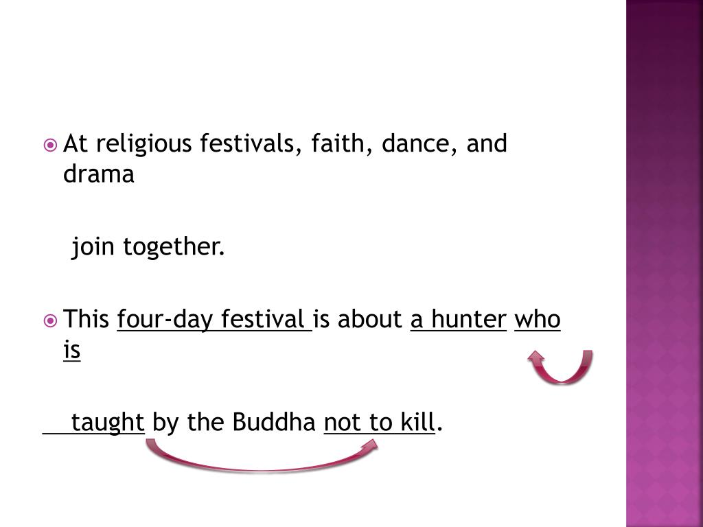 At religious festivals, faith, dance, and drama