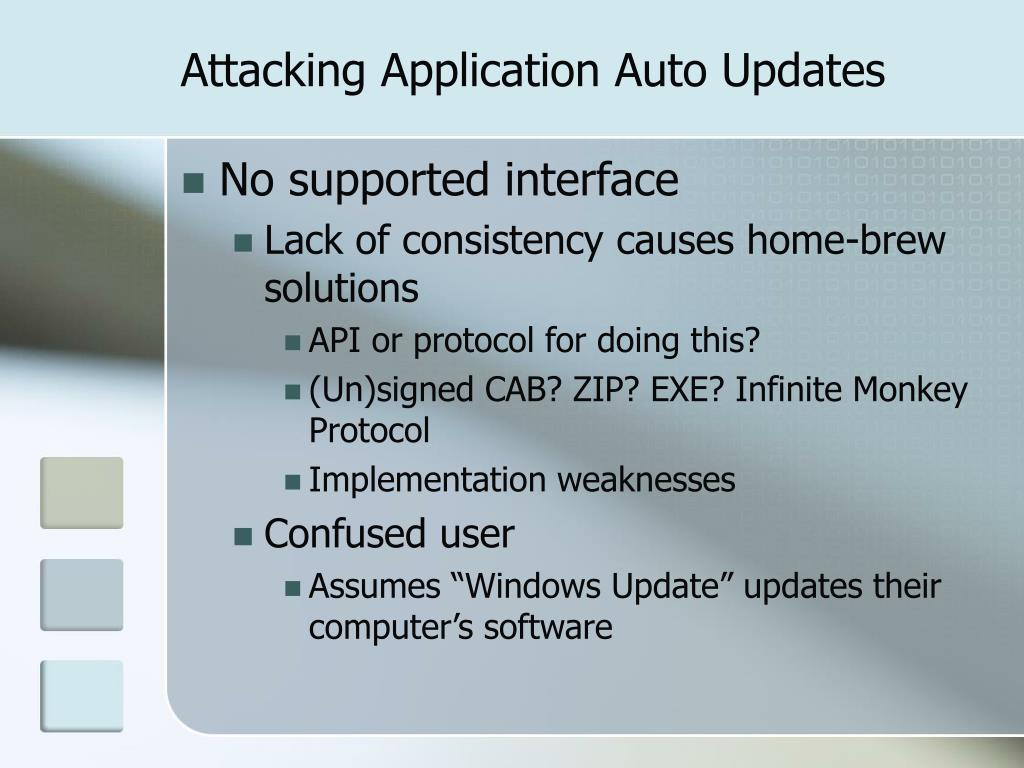 Attacking Application Auto Updates