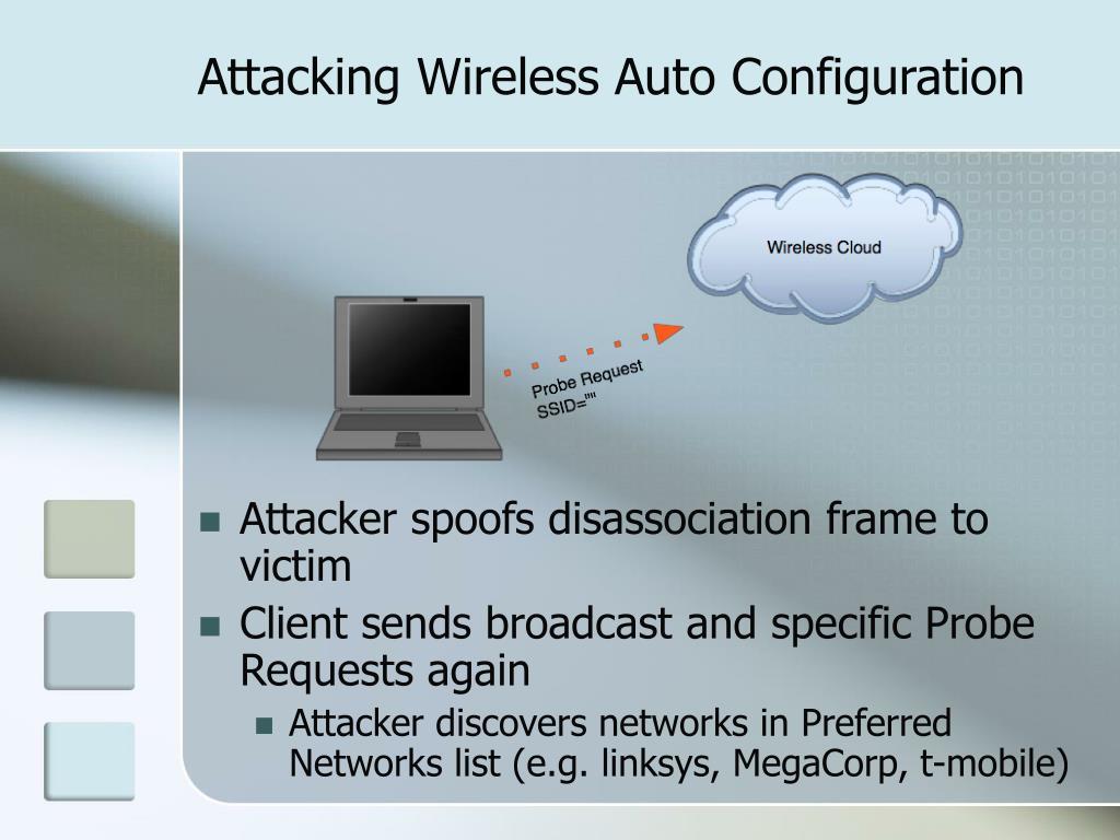 Attacking Wireless Auto Configuration