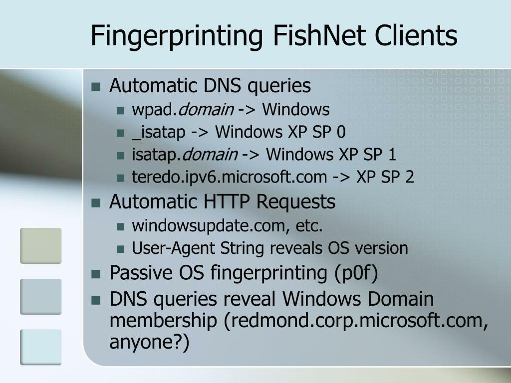 Fingerprinting FishNet Clients