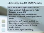 l1 creating an all ssids network