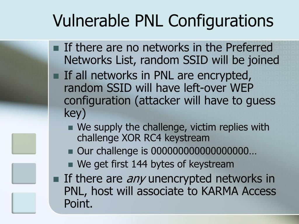 Vulnerable PNL Configurations
