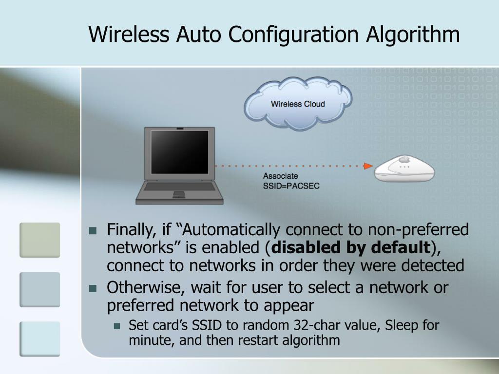 Wireless Auto Configuration Algorithm