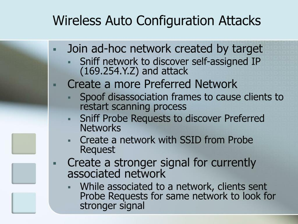 Wireless Auto Configuration Attacks