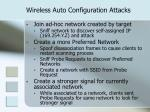 wireless auto configuration attacks