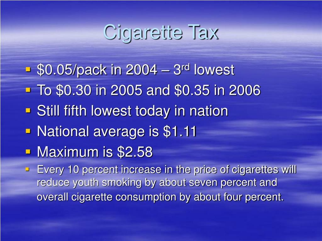Cigarette Tax