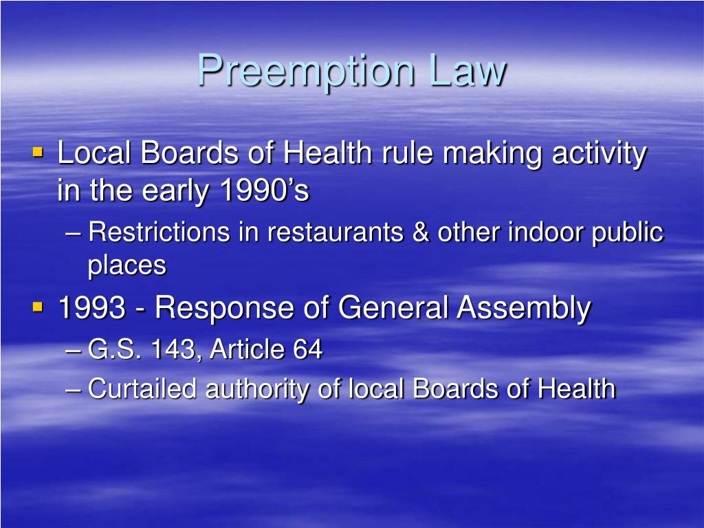 Preemption Law