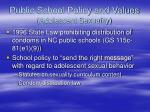 public school policy and values adolescent sexuality15