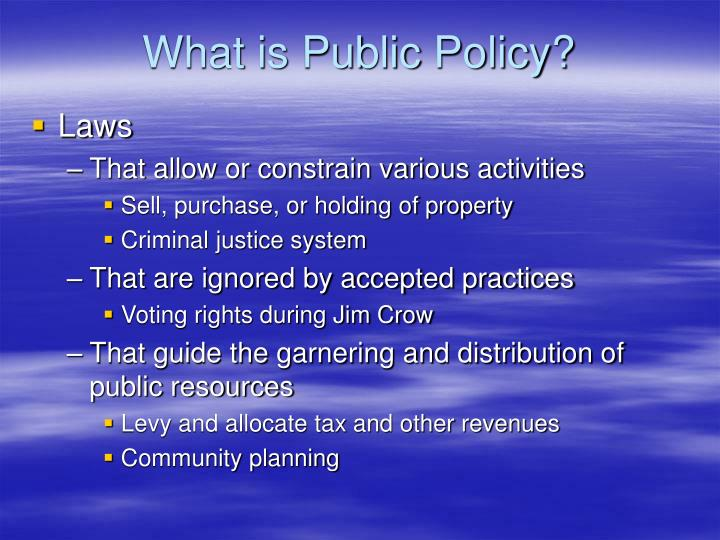 What is public policy l.jpg