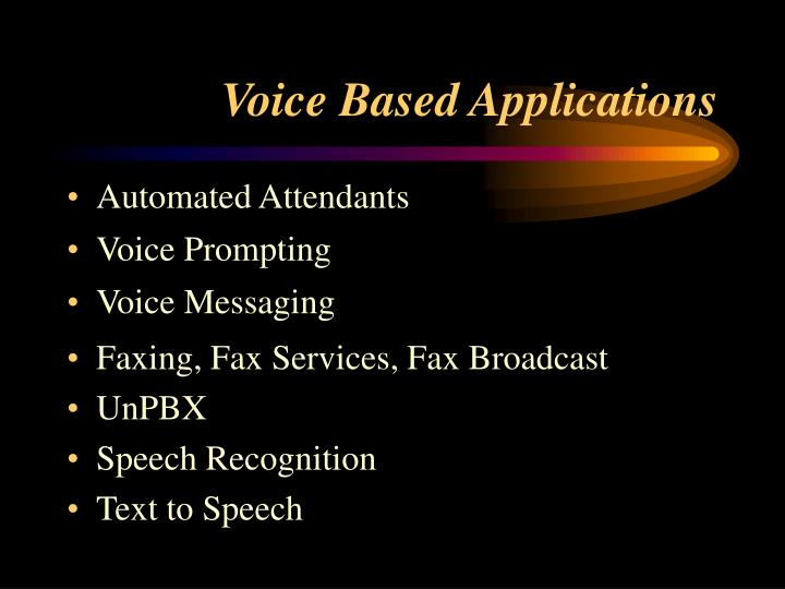 Voice based applications l.jpg
