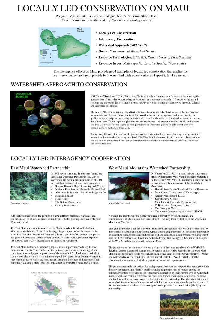 Locally Led Conservation