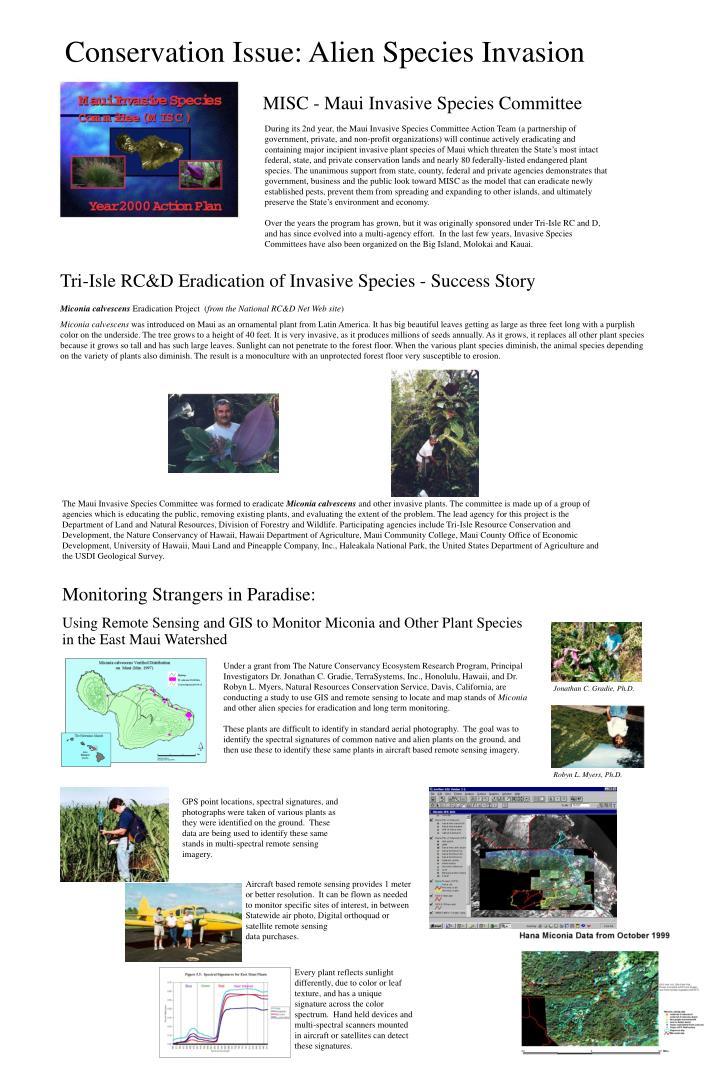 Conservation Issue: Alien Species Invasion