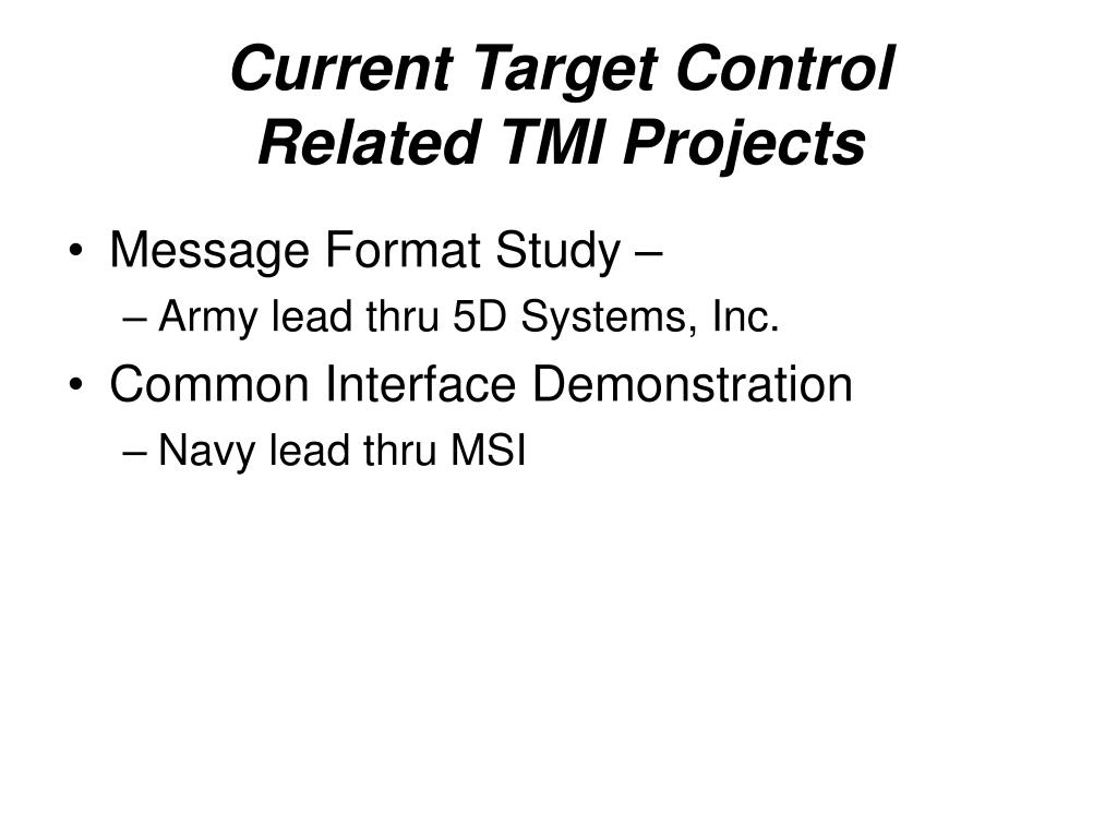 Current Target Control
