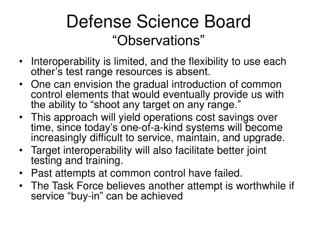 Defense Science Board