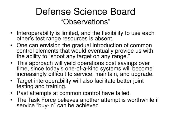Defense science board observations l.jpg