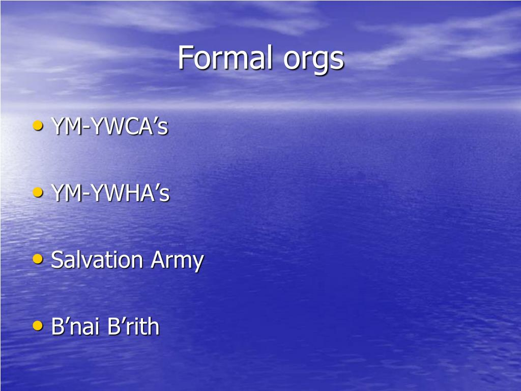 Formal orgs