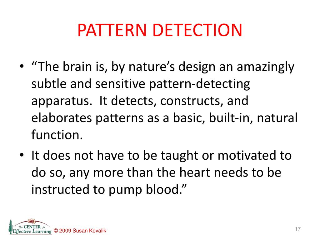 PATTERN DETECTION