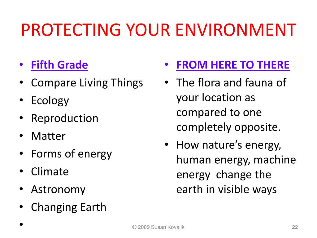 PROTECTING YOUR ENVIRONMENT