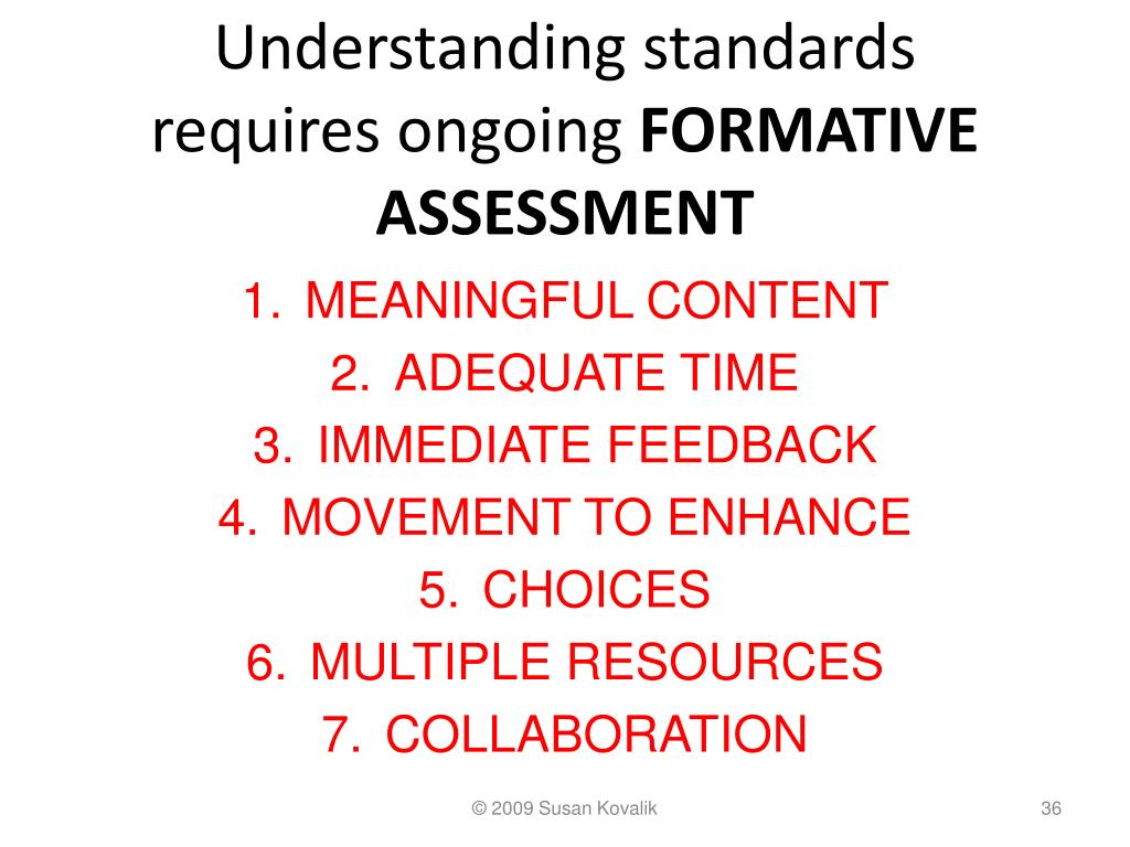 Understanding standards requires ongoing