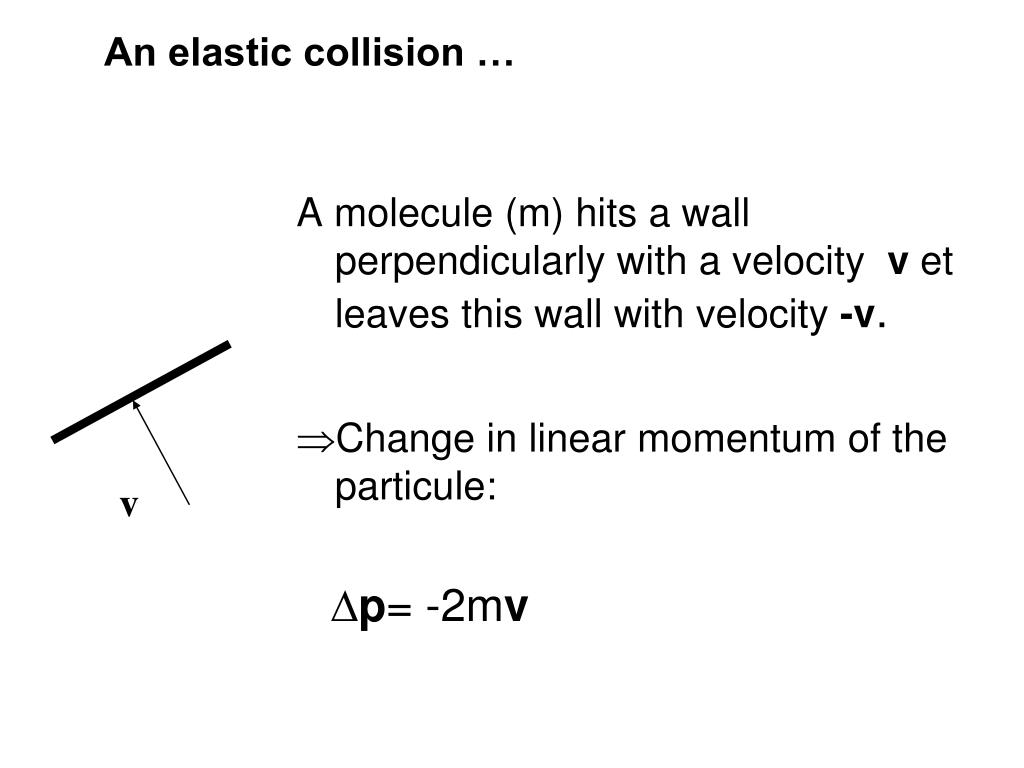 An elastic collision …