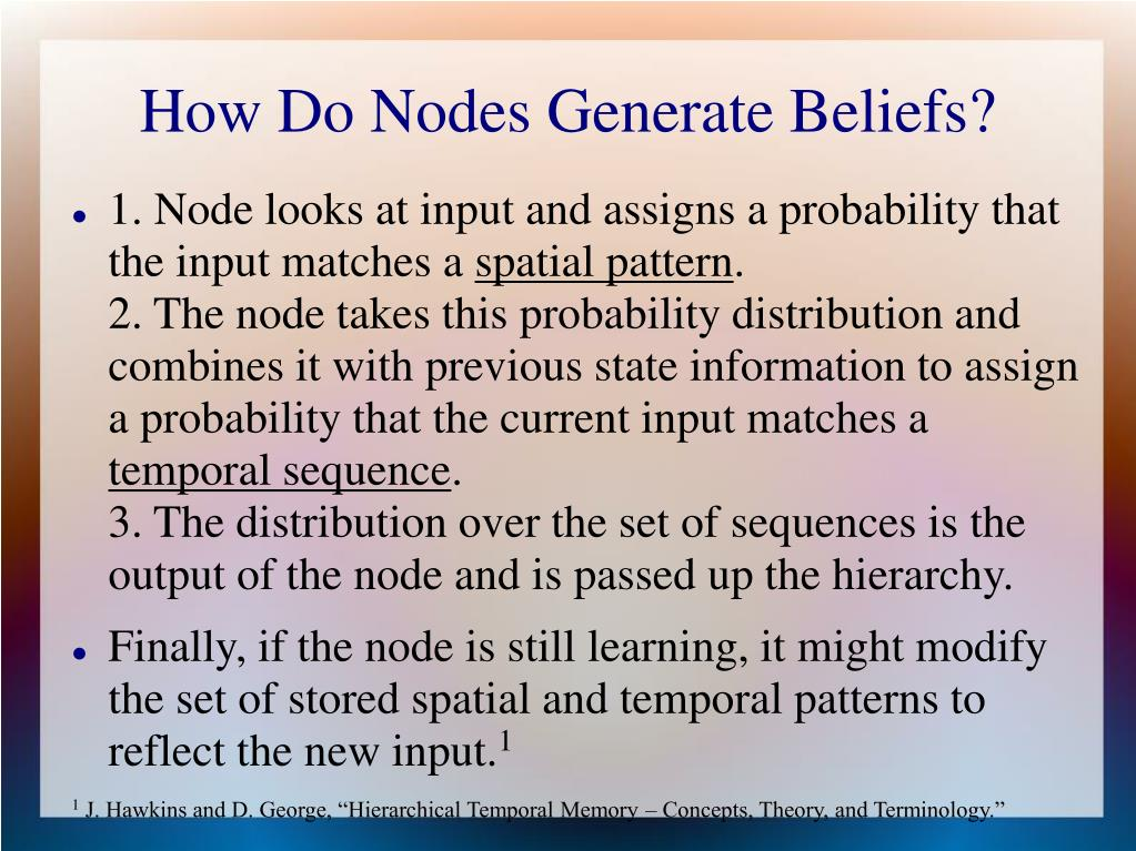 How Do Nodes Generate Beliefs?