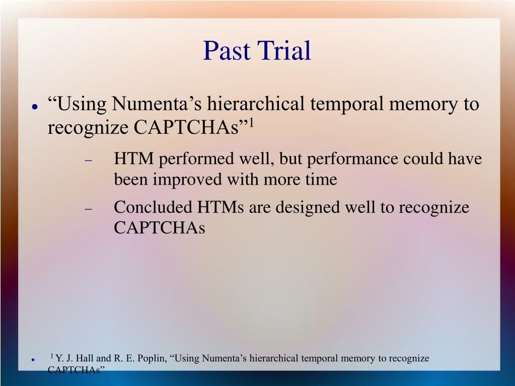 Past Trial