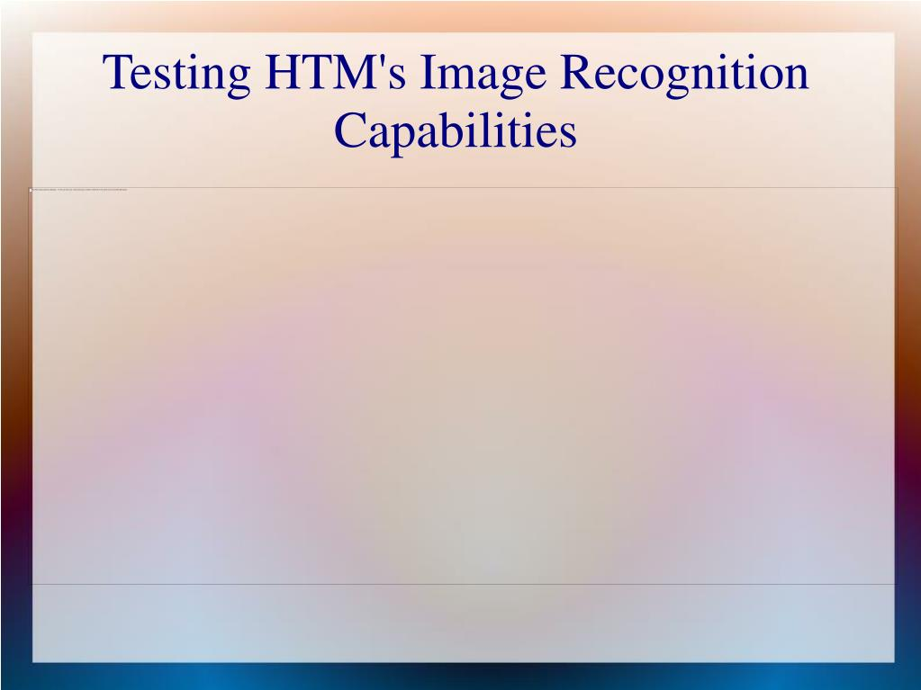 Testing HTM's Image Recognition Capabilities