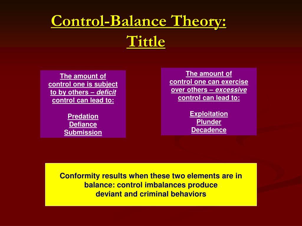 Control-Balance Theory: