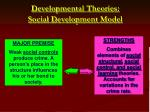 developmental theories social development model