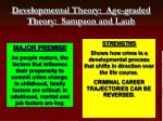 developmental theory age graded theory sampson and laub