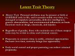latent trait theory