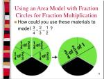 using an area model with fraction circles for fraction multiplication15