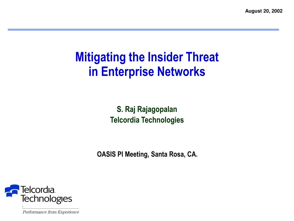 mitigating the insider threat in enterprise networks