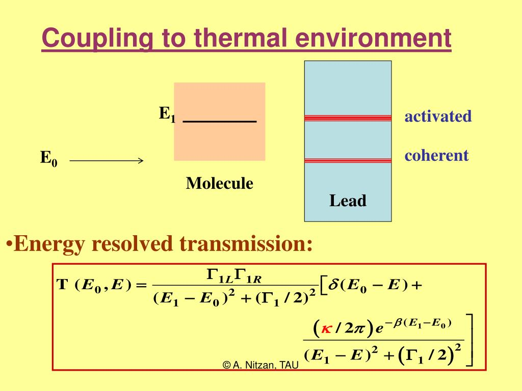 Coupling to thermal environment
