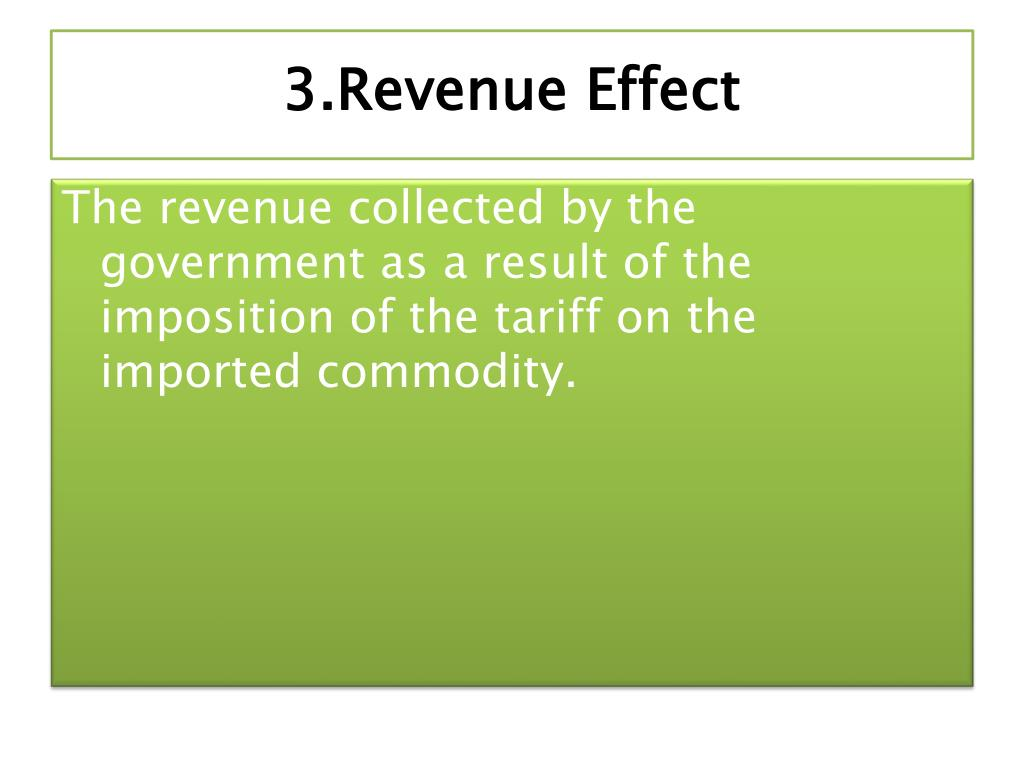 3.Revenue Effect
