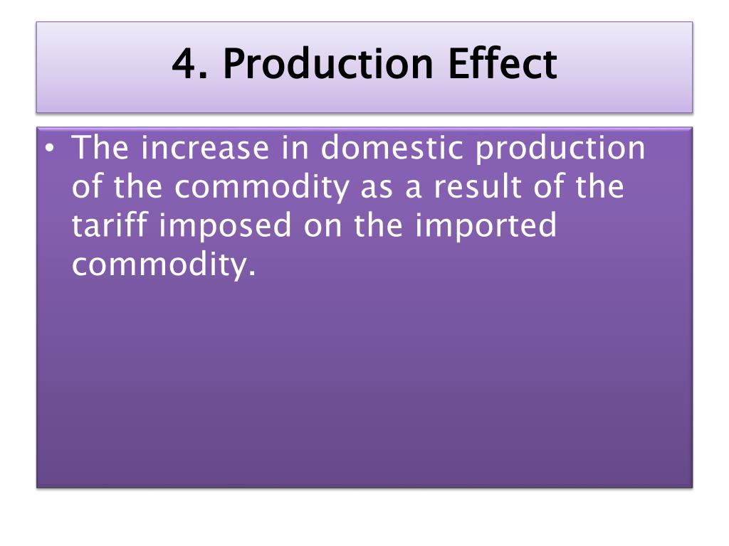 4. Production Effect