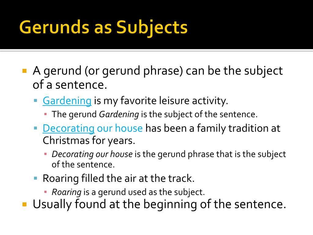 PPT - Types of Gerund ...