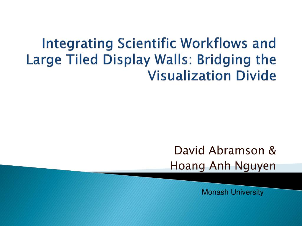 integrating scientific workflows and large tiled display walls bridging the visualization divide