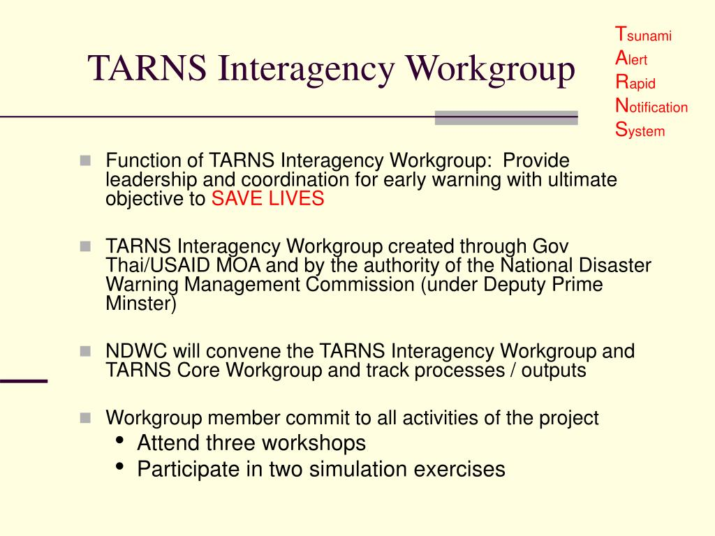 TARNS Interagency Workgroup