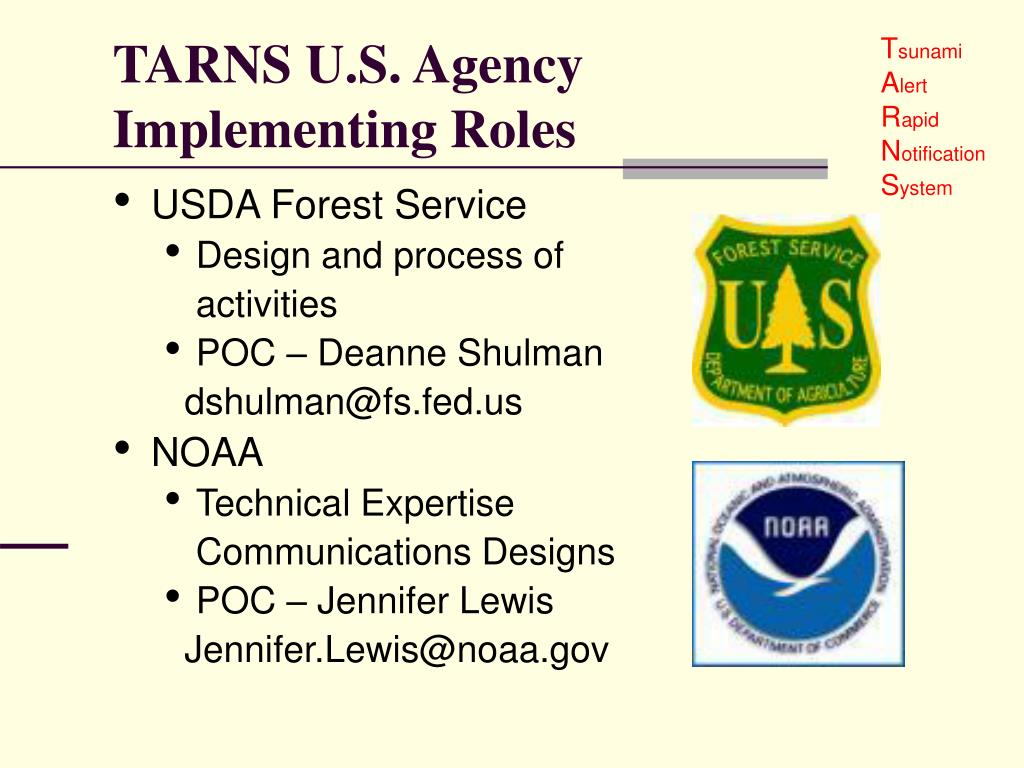 TARNS U.S. Agency