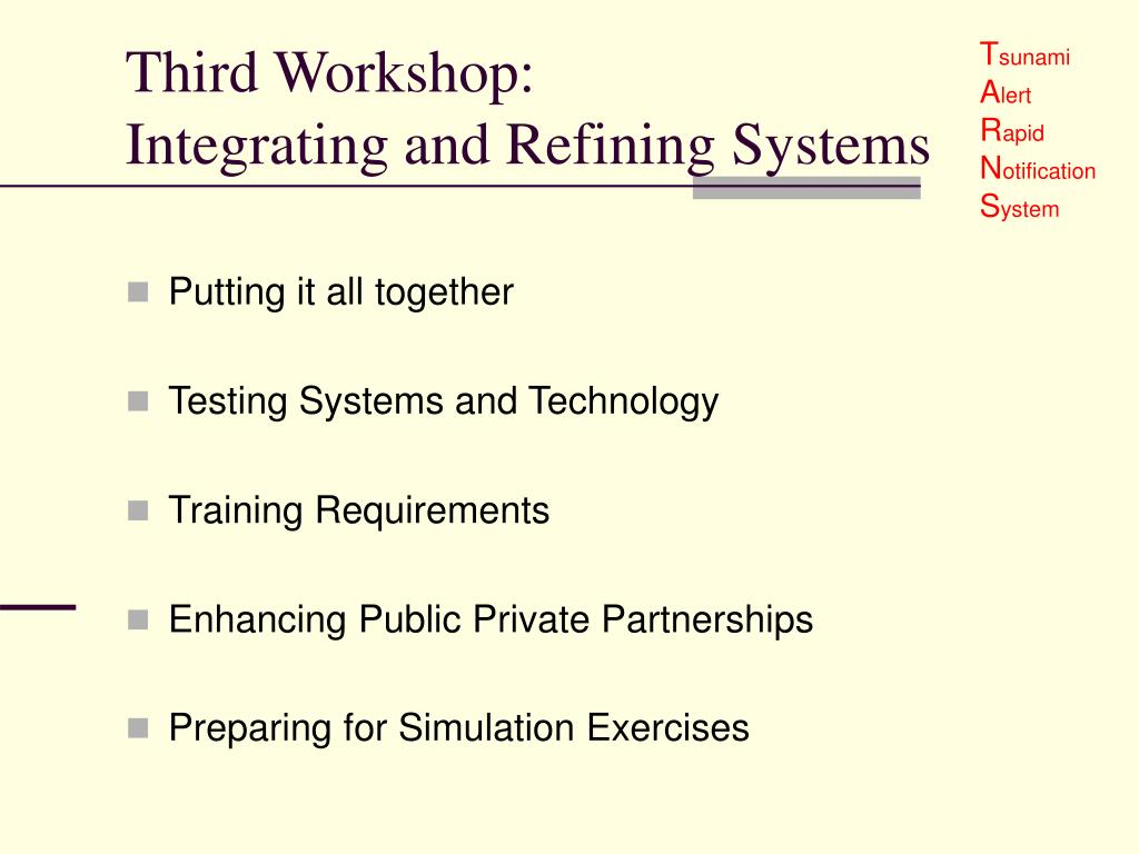 Third Workshop: