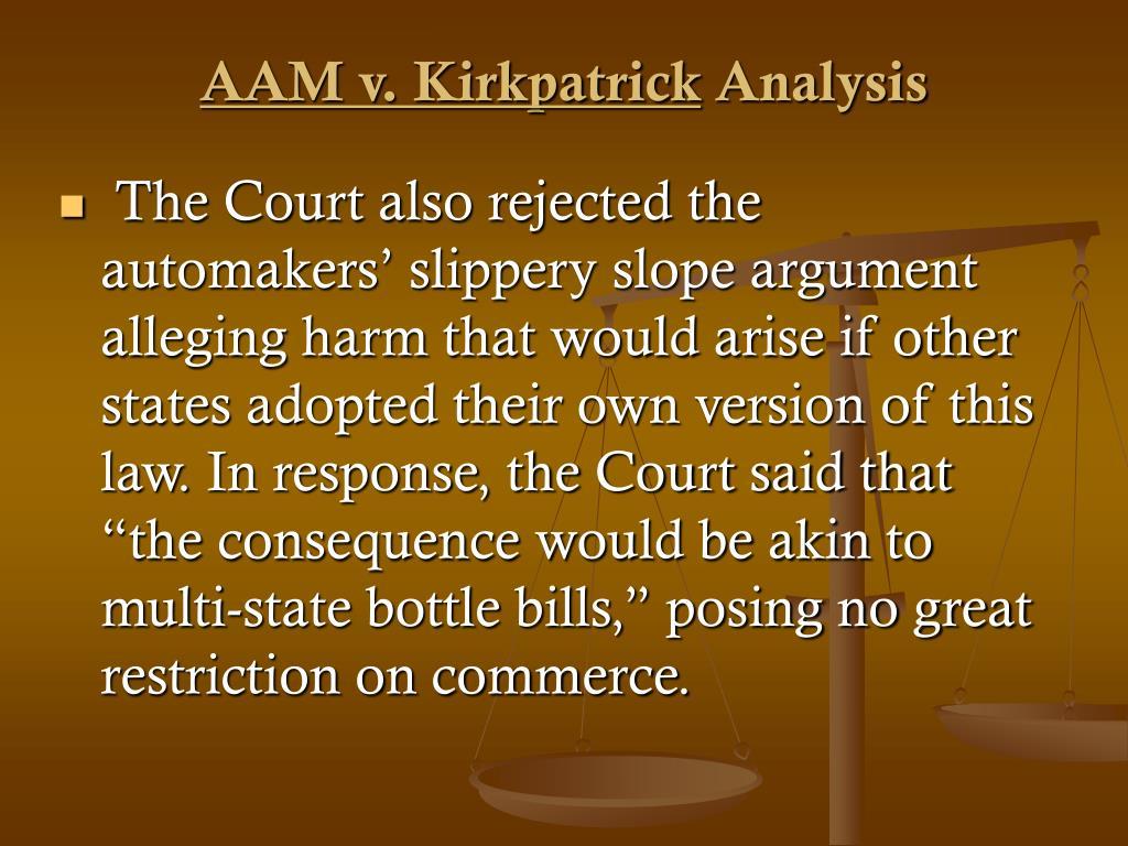 AAM v. Kirkpatrick