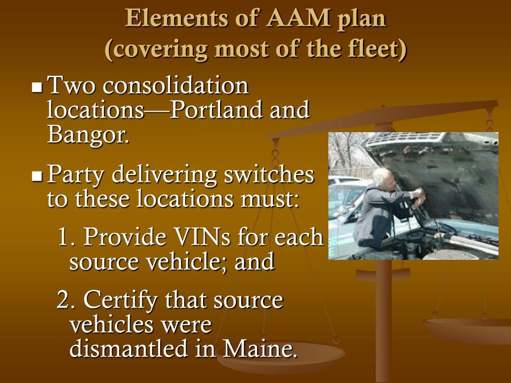 Elements of AAM plan