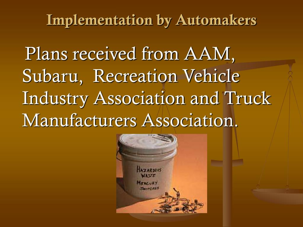Implementation by Automakers